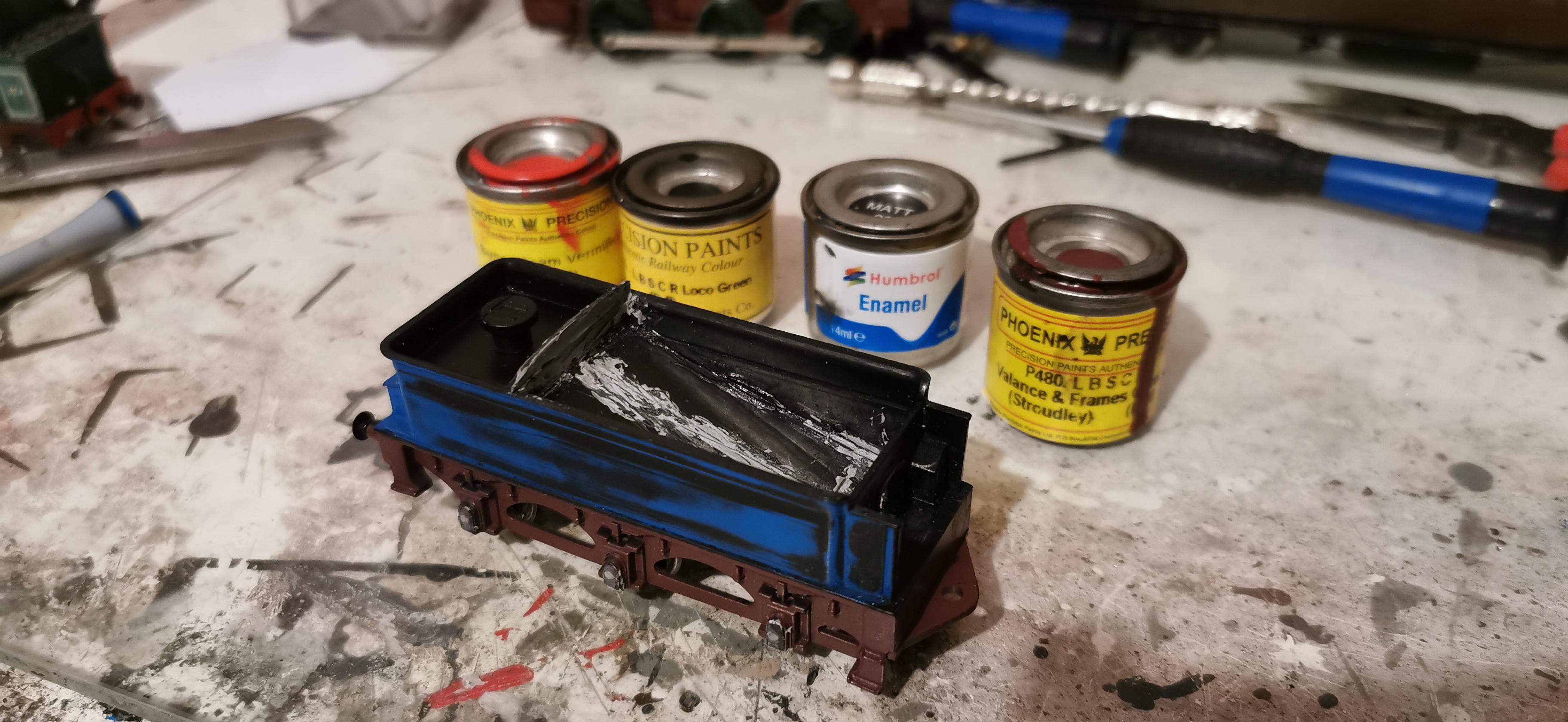 Preparing to paint